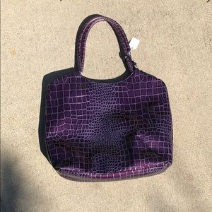 Purple Neiman Marcus handbag